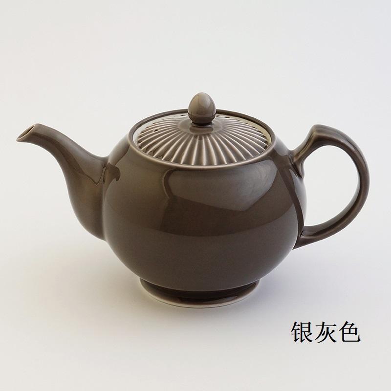 波佐见烧 茶壶 银灰色