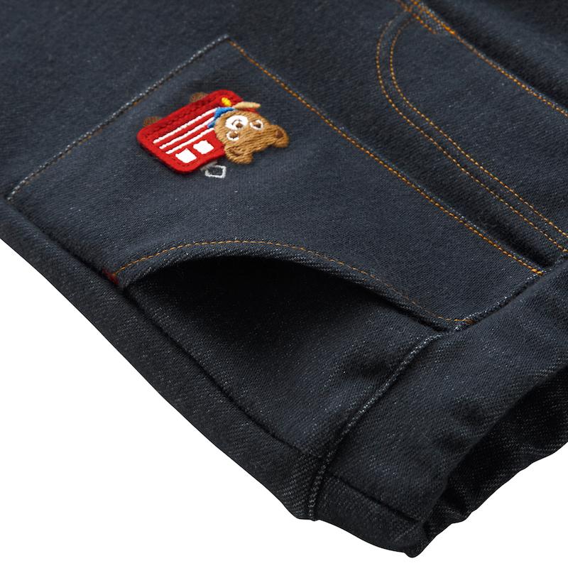 MIKIHOUSE超人气小熊刺绣弹力软牛仔长裤