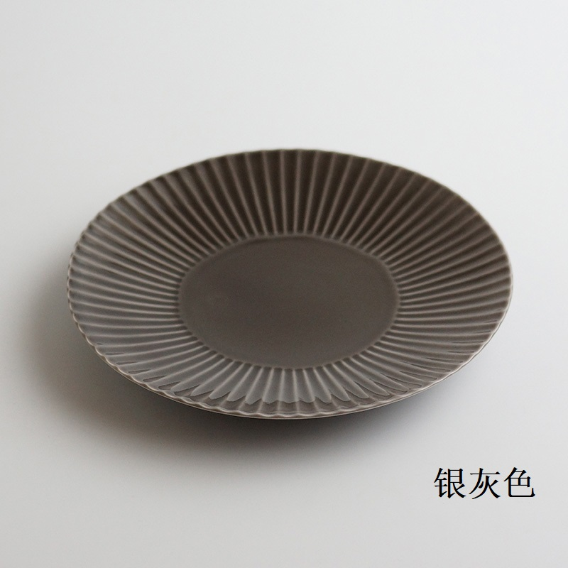 波佐见烧  镐 盘子(大)银灰色
