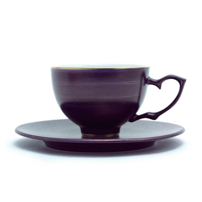 紫瓷茶杯&茶托