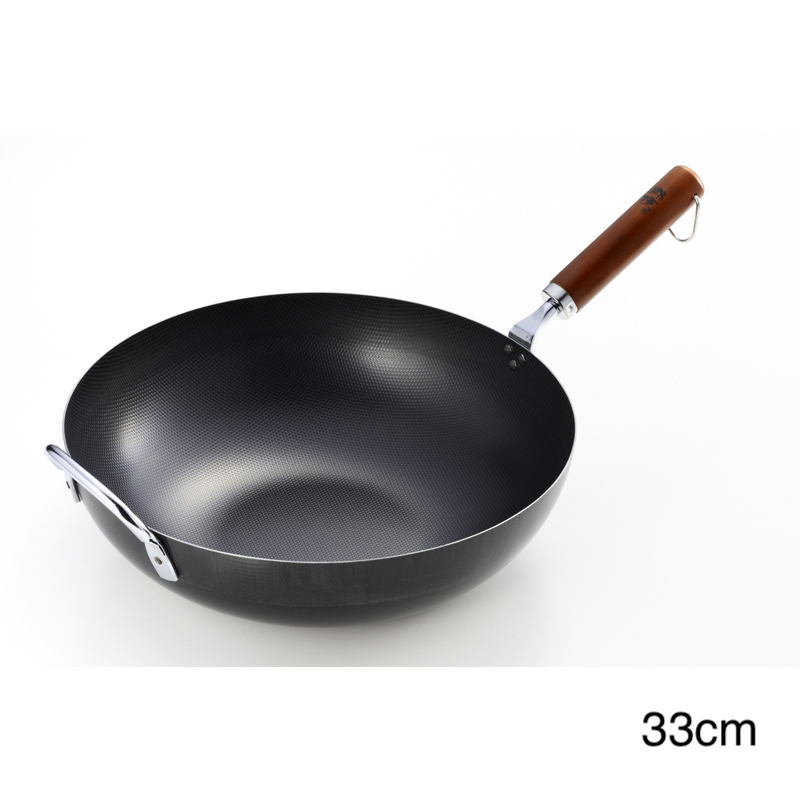 乡技 木质手柄炒菜锅