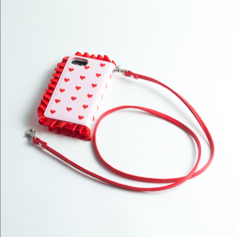 【iPhone8/7/6s/6可用】青木美沙子 原创 心型手机壳