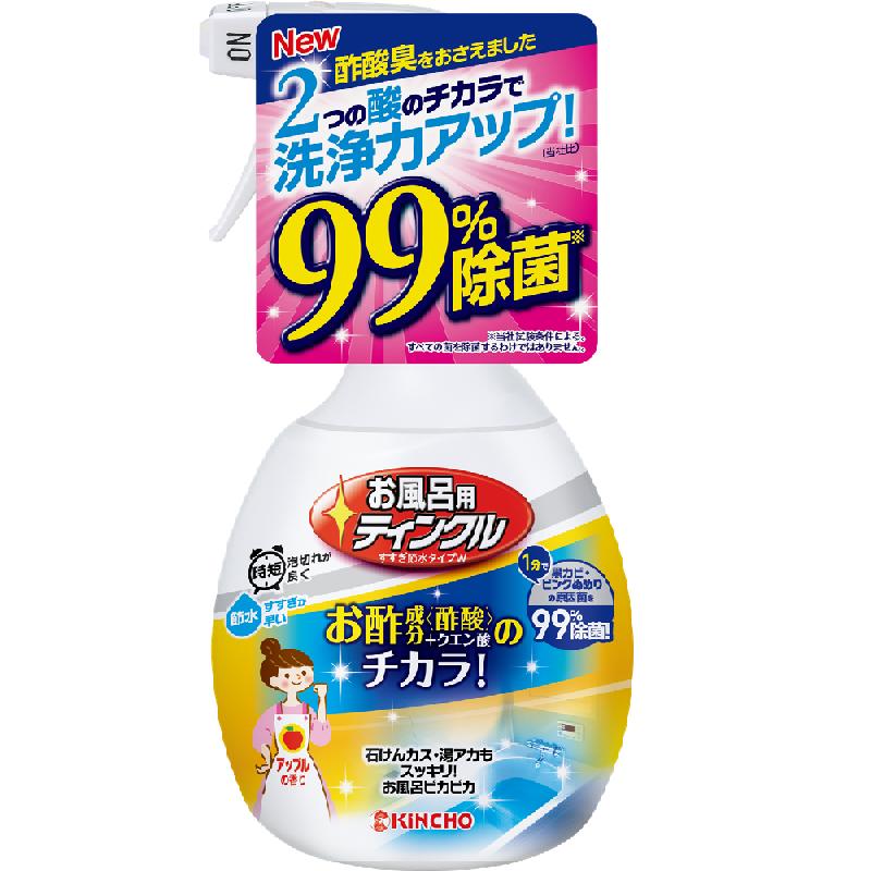 KINCHO金鸟 TWINKLE 浴室用醋酸除菌节水洗涤剂 400mL 一箱(12个)