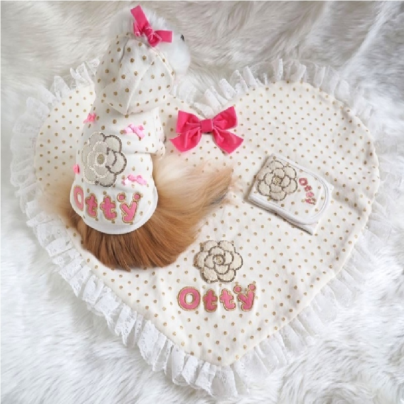 Otty山茶花水珠·心形软垫