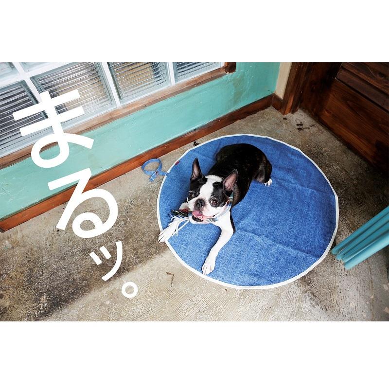 牛仔圆形犬用垫