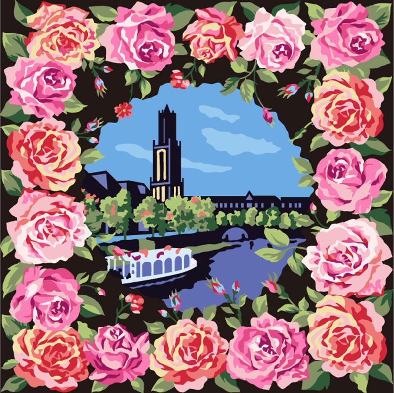 豪斯登堡 绒织手帕 蔷薇