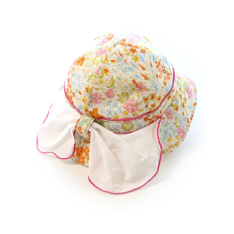 【BIJOUX & BEE】浪漫植物花纹防UV帽(日本制)