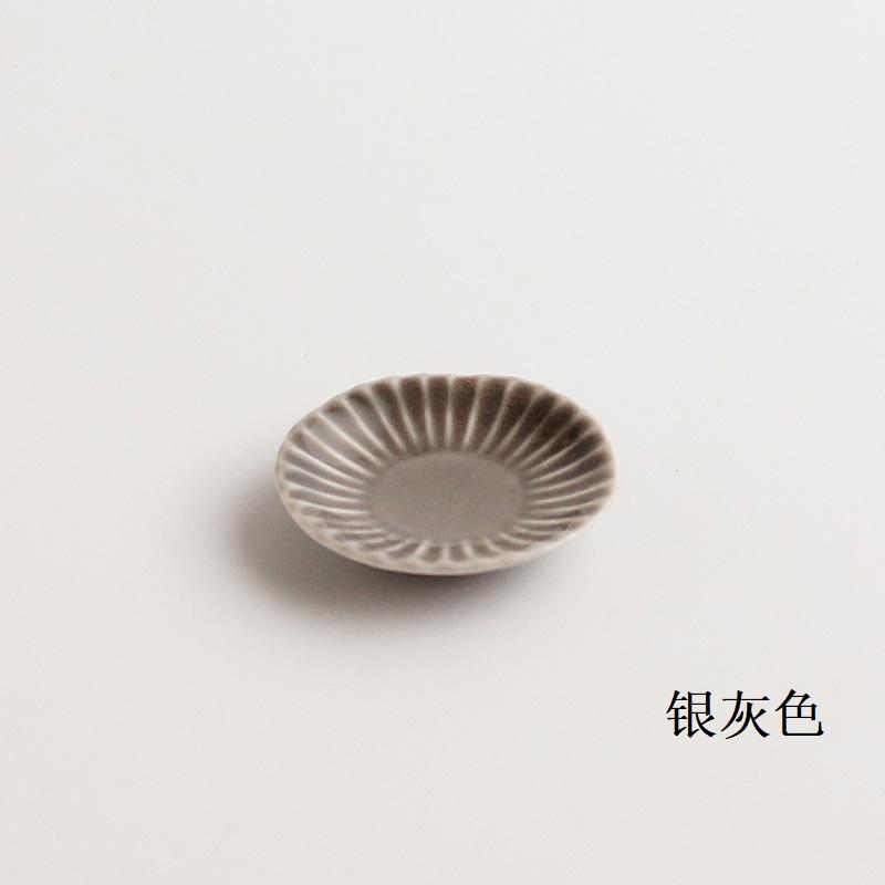 波佐见烧 盘子(豆盘子)银灰色