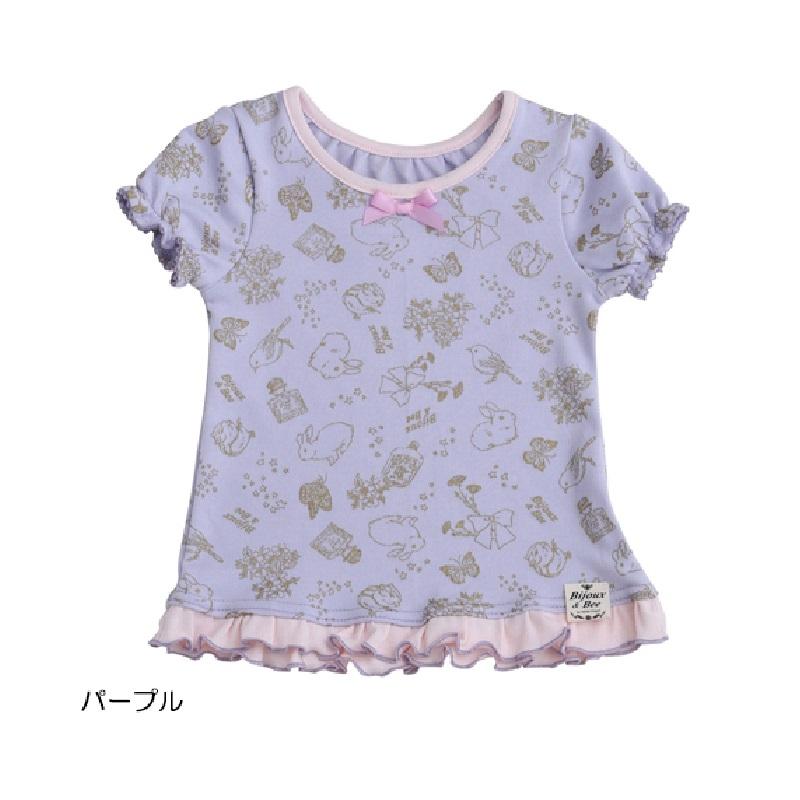 【BIJOUX & BEE】闪闪发光梦幻花边T恤(日本制)