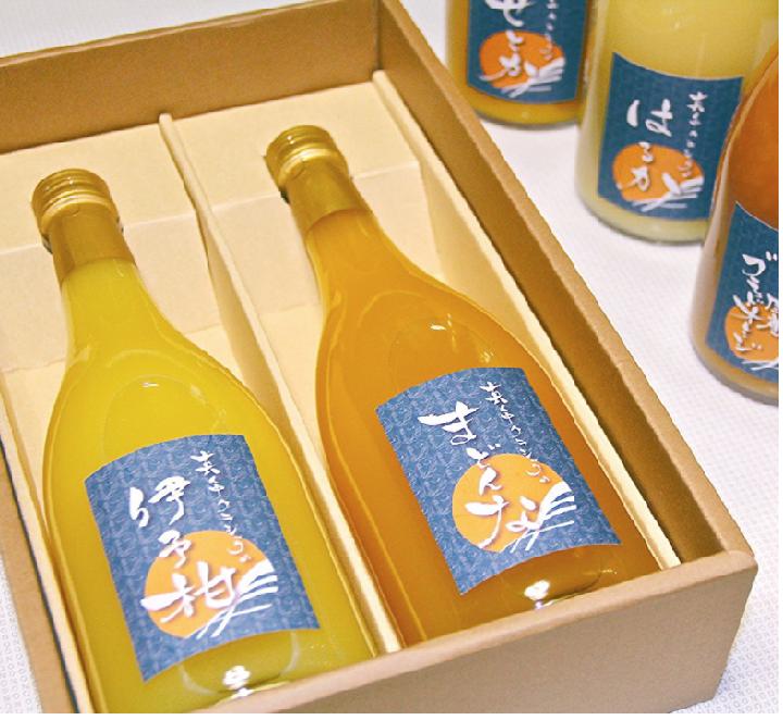 日本最有名的柑橘岛——爱媛县中岛南部限定的优惠橙汁2瓶入套装