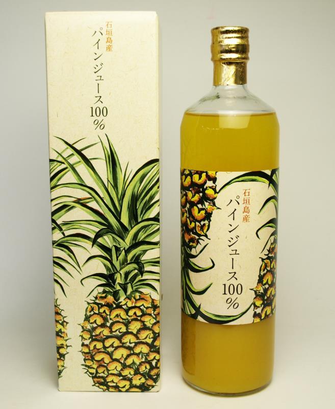新  完全成熟的纯度100%石垣岛产菠萝汁 两瓶套装  900ml×2瓶
