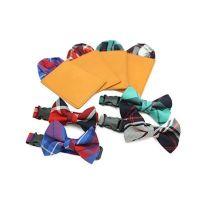 彩色方格口袋饰巾(4色)