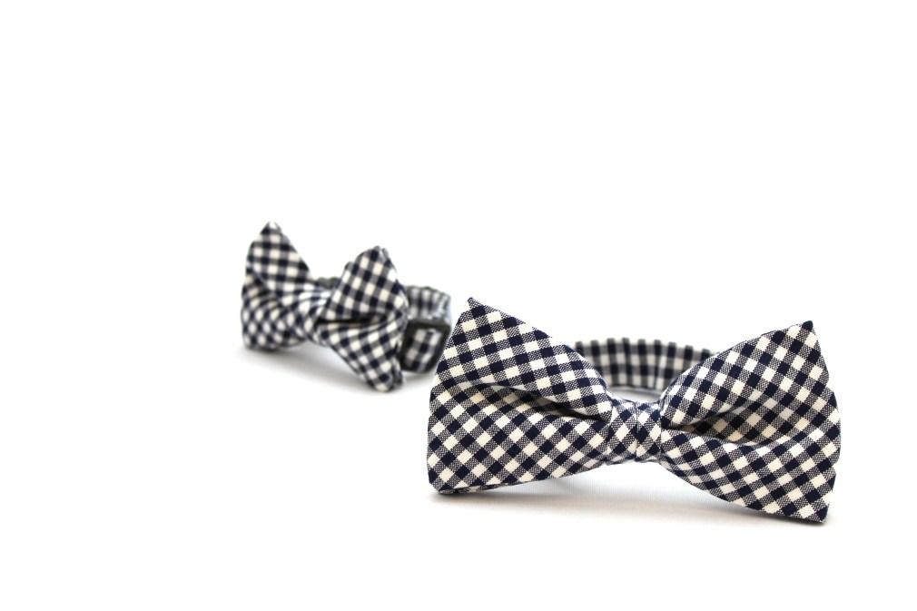 犬用领结(黑白格/紅白格)