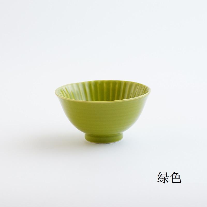 波佐见烧 茶碗(大)绿色