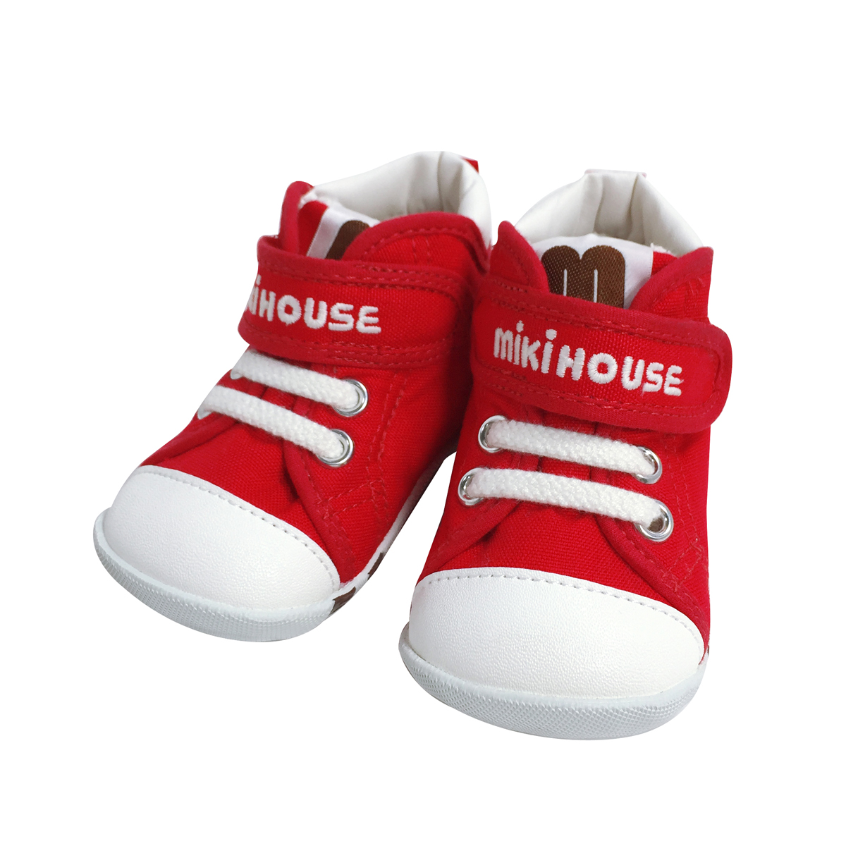 日本制MIKIHOUSE经典彩虹拼色款 一段学步鞋(2色)<br/>