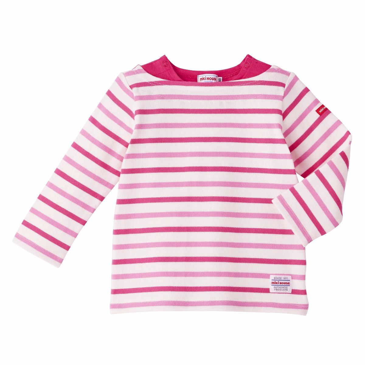 Everyday MIKIHOUSE 经典彩色条纹针织长袖T恤衫(2色)