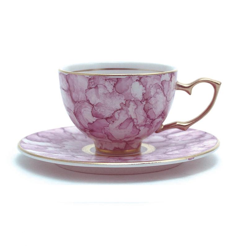 Ruby红宝石大理石系列茶杯&茶托