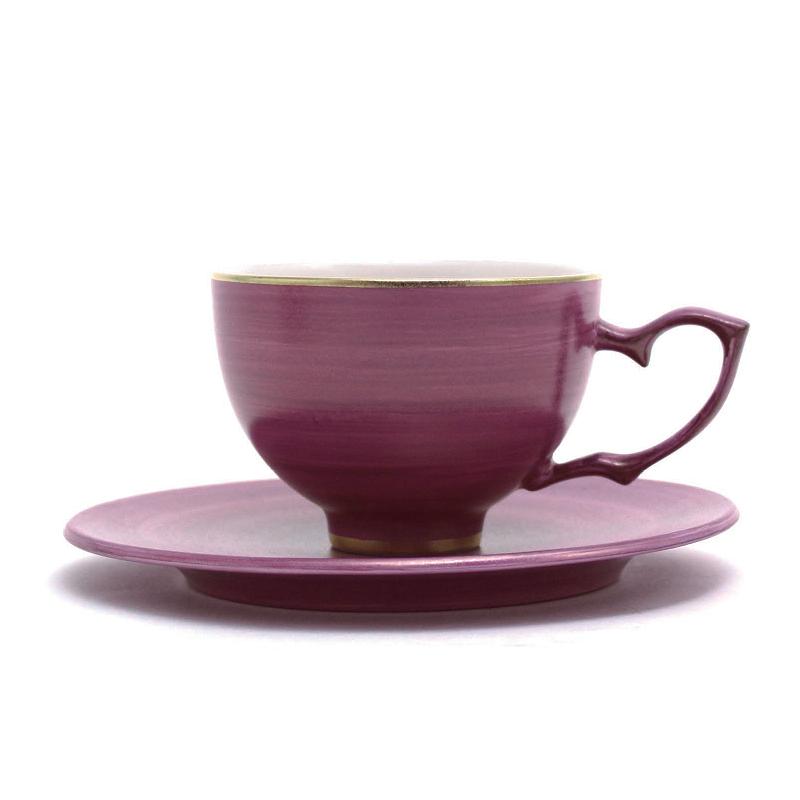 桃花瓷茶&茶托