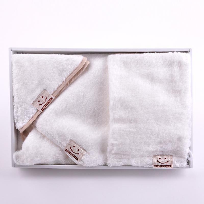 世界第一宝宝连帽浴巾组合 3种