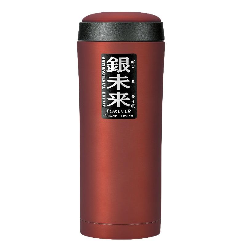 银未来抗菌不锈钢真空水瓶大口径500ml 红色