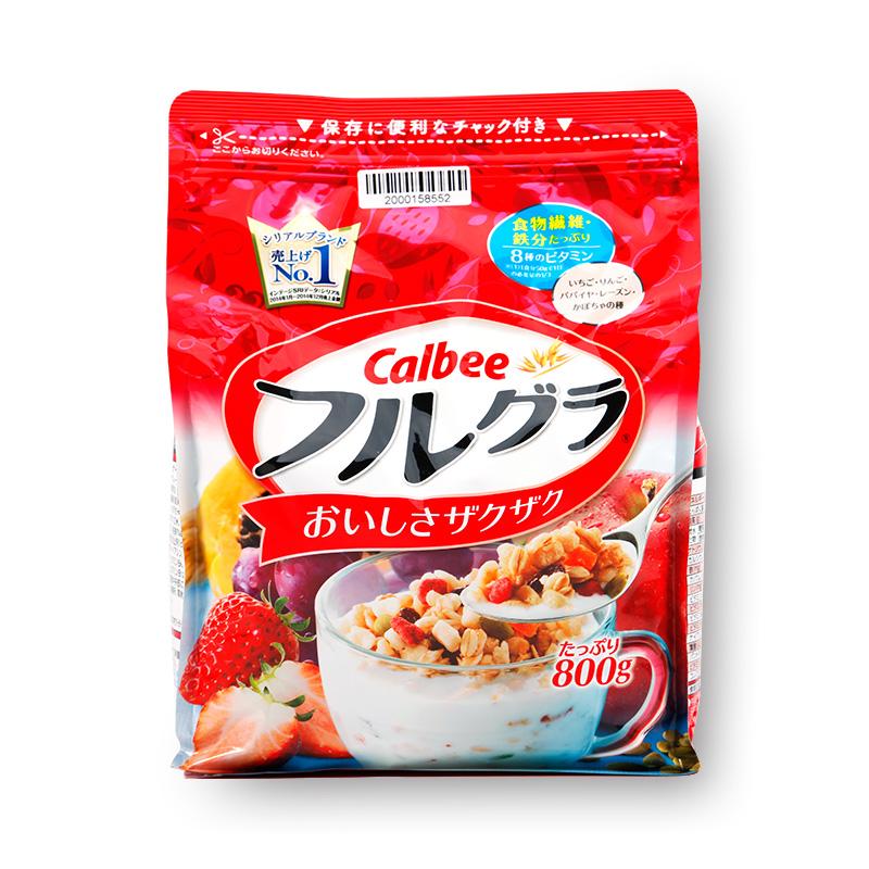 Calbee 卡乐比 实惠装水果谷物麦片 800g