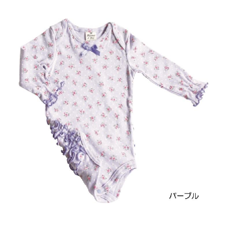 【BIJOUX & BEE】小花边圆点和小花图案的连体衣(日本制)