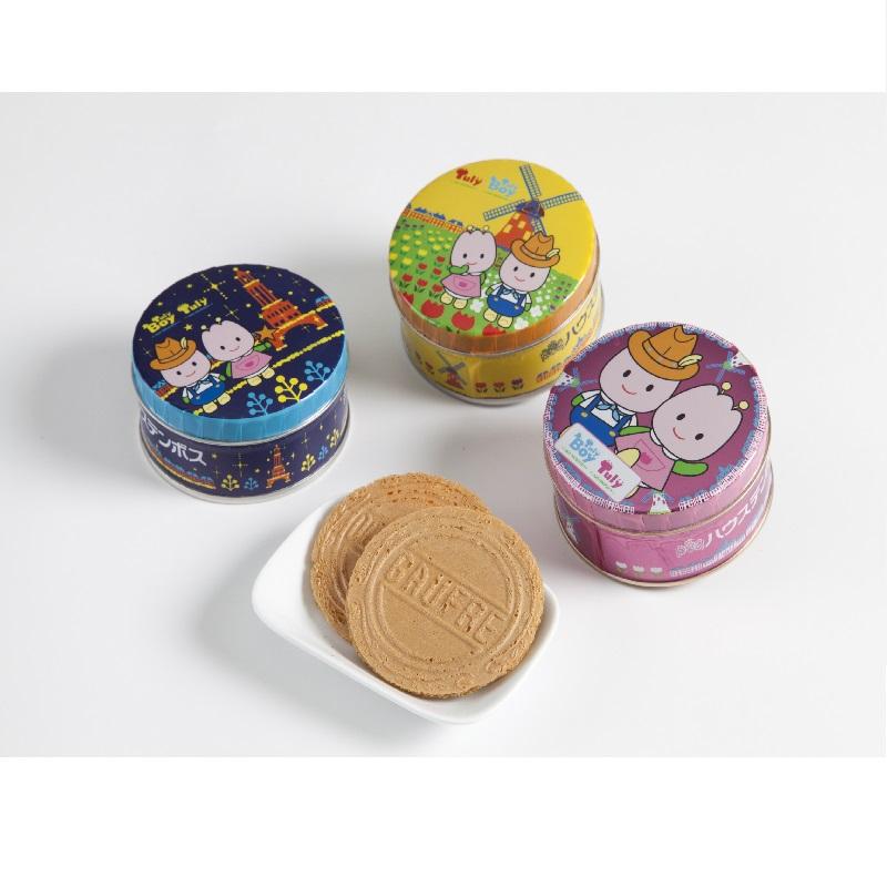 Churi迷你双层脆薄饼3罐套餐18张(6张入3罐)
