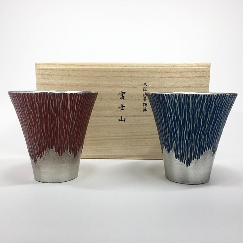 锡杯组合富士山
