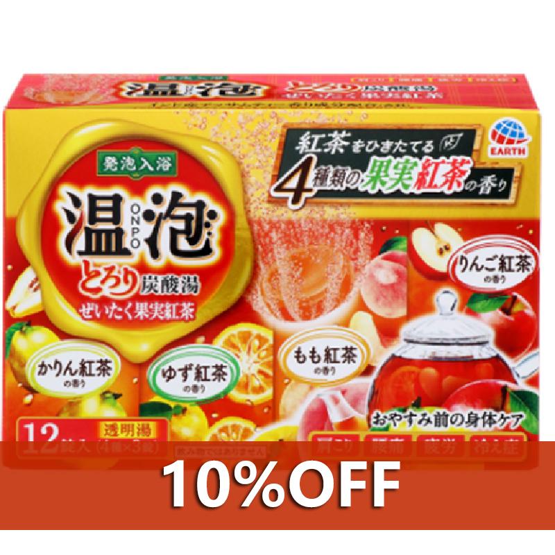 阿斯制药 温泡 ONPO 豪华果实红茶 碳酸汤 沐浴剤 一箱(12片装×16个装)