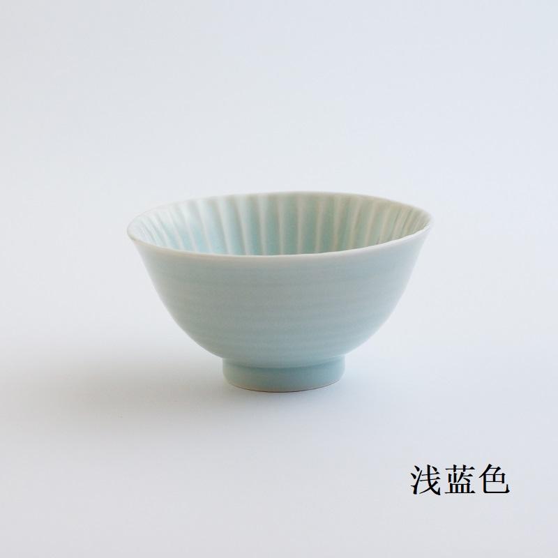 波佐见烧 茶碗(大)浅蓝色