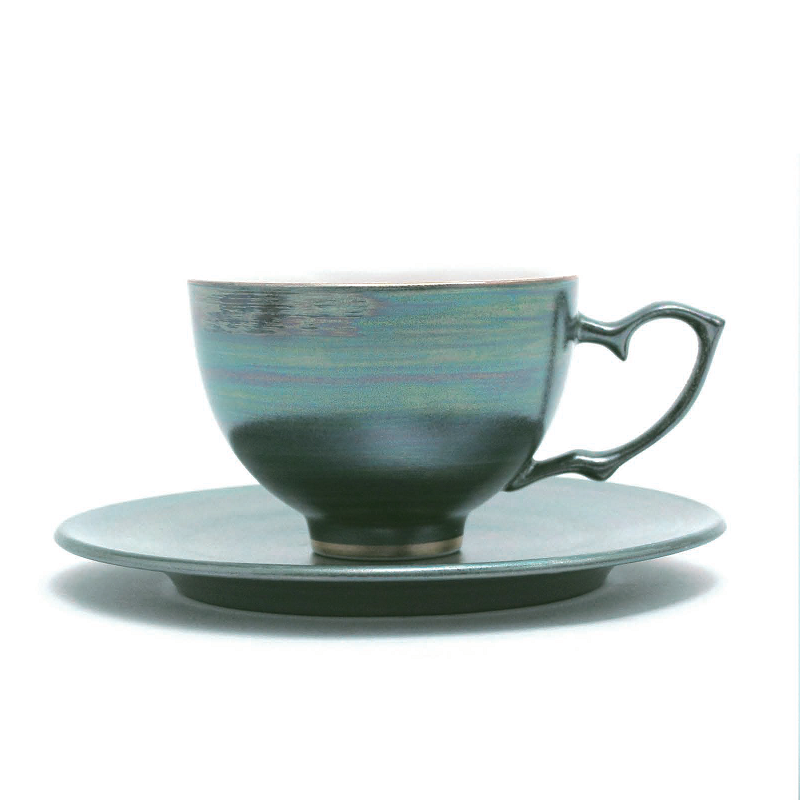 大地瓷茶杯&茶托