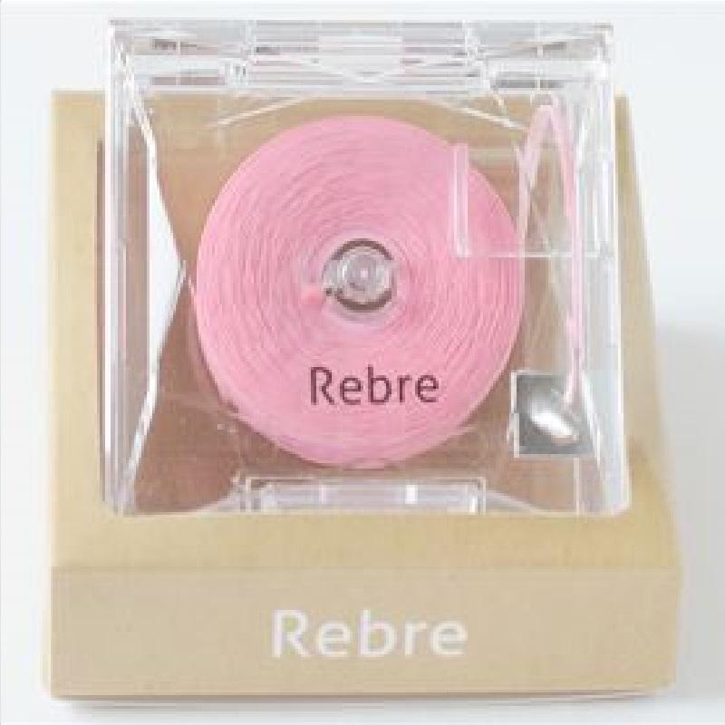 Rebre粉色卷式香水牙线草莓+桃子味50米