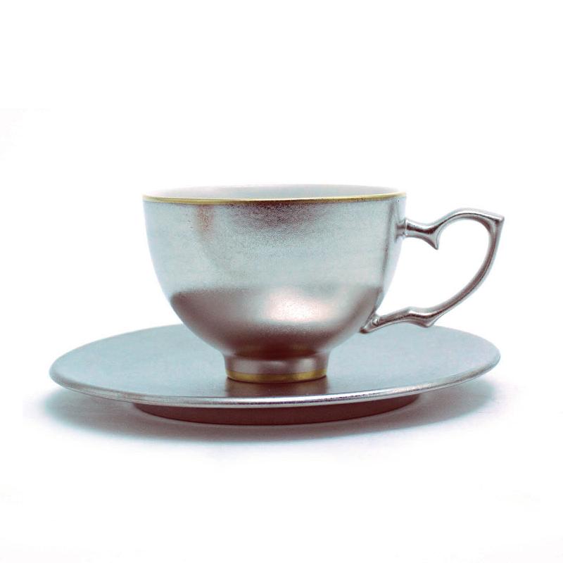 王子茶杯&茶托(内白)