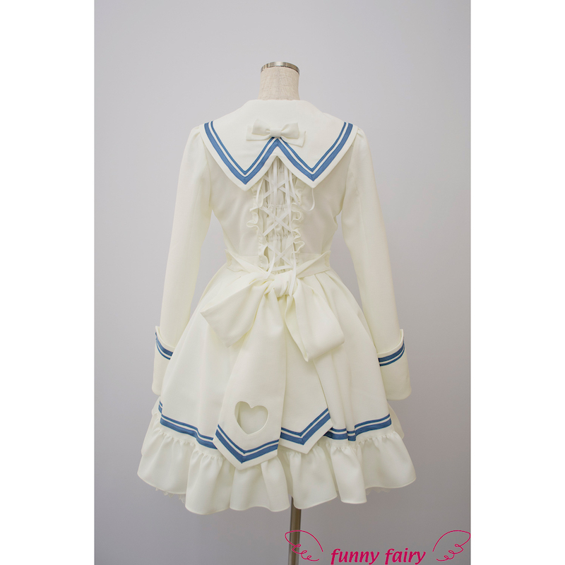 funnyfairy 新款洋装水手风连衣裙(含帽子)
