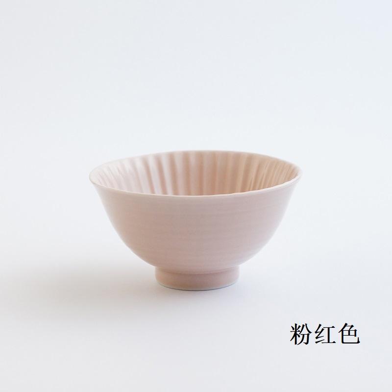 波佐见烧 茶碗(大)粉红色