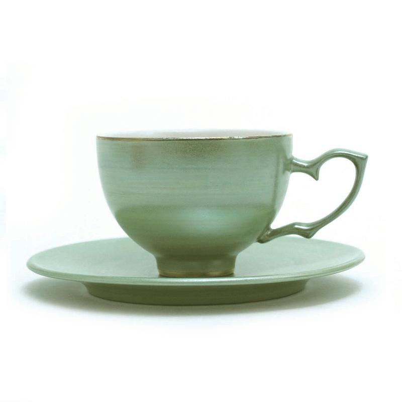 若草瓷茶杯&茶托