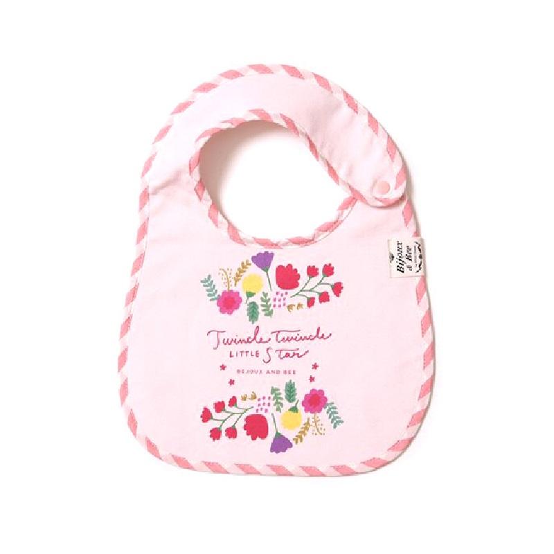 【BIJOUX & BEE】鲜花图案粉色围兜(日本制)