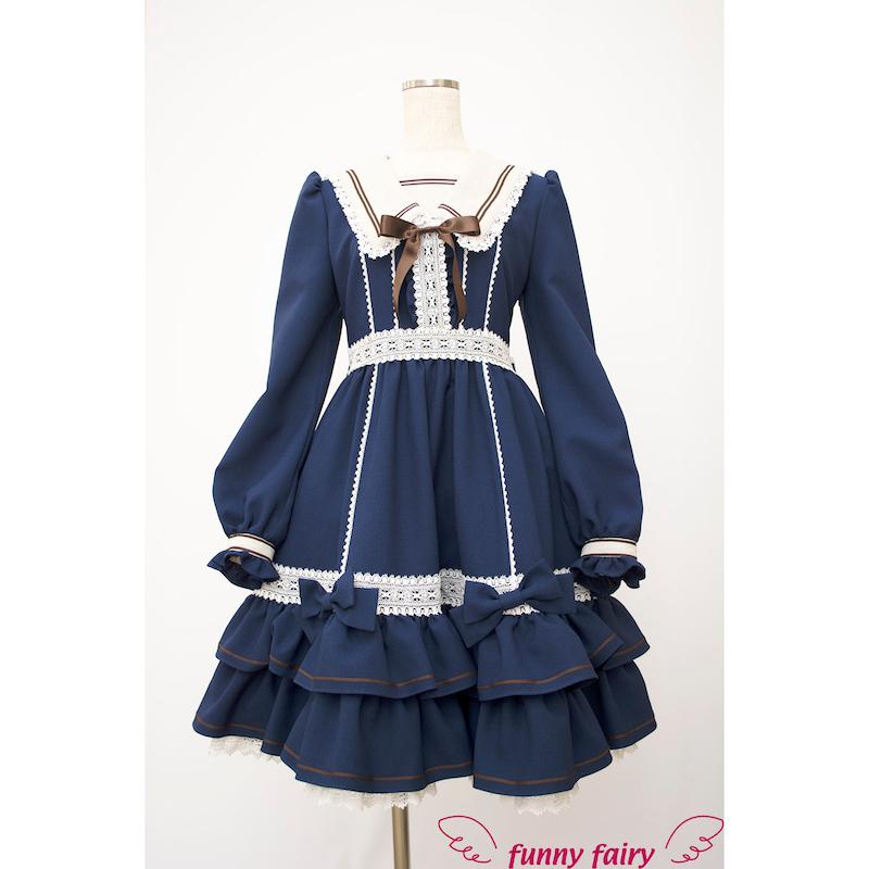 funnyfairy 灰姑娘连衣裙(含贝雷帽)