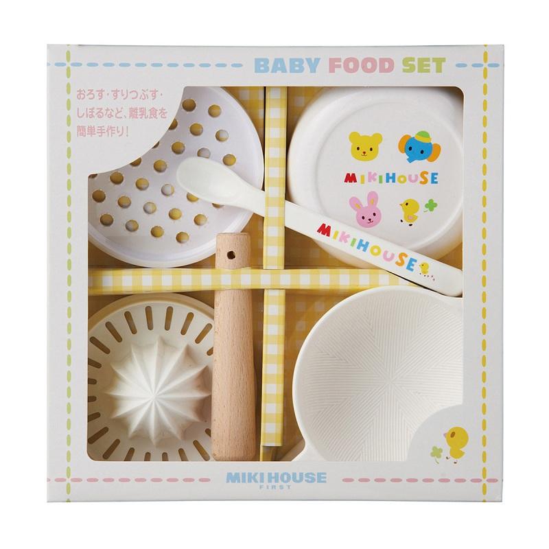 MIKIHOUSE日本制婴儿辅食研磨组合套装